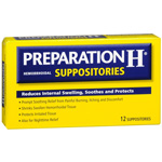 Preparation H Hemorrhoidal Suppositories, 1ct