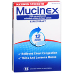 Mucinex. Maximum Strength Expectorant - 1200 mg Guaifenesin: 14 Count