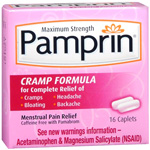 Pamprin maximum strength menstrual pain relief cramp caplets - 16 ea