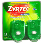 Zyrtec 24 Hour Allergy Tablets 10 mg, 14 ct