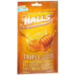 Halls Honey Lemon Cough Drops 30ea