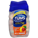 Tums EX 750 Extra Strength Antacid/Calcium Supplement 48ea