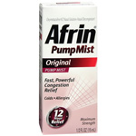 Afrin Original Nasal Decongestant Pump Mist Maximum Strength - 15ml