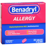 Benadryl Allergy Relief Ultra Tablets - 24 Ea