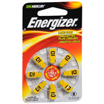 Energizer Hearing Aid Batteries EZTurn AZ10DP, 8 ea
