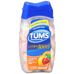 Tums Ultra 1000 Chewable Antacid Tablet 72pk. Assorted Fruit