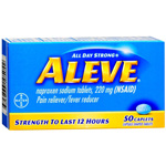 Aleve All Day Pain Relief & Fever Reducer - 50 each Capsules