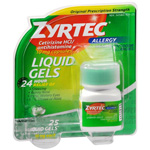 Zyrtec 10mg Allergy Liquid Gels - 25 Count