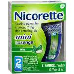 Nicorette Stop Smoking Aid Mini Lozenges 2 mg 81ea.