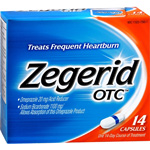 Zegerid OTC acid reducer capsules to treat frequent heartburn - 14 ea