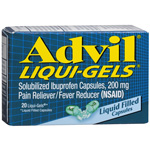 Advil Pain Reliever/Fever Reducer 200mg Liquid Capsules 20ea