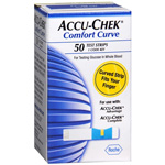 ACCU-CHEK Comfort Curve Blood Glucose Test Strips 50ct