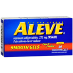 Aleve Naproxen Sodium Tablets, 220 mg, Gelcaps - 40 count