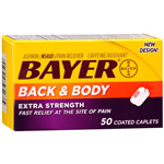 Bayer Back & Body Pain Reliever - 50 Ct
