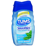 Tums Smoothies Antacid/Calcium Supplement, Extra Strength 750,