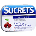 Sucrets Complete Vapor Cherry Throat Lozenges