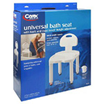 Carex Universal Bath Bench with Back