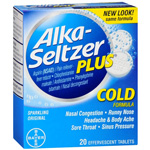 Alka-Seltzer Plus Cold Formula - 20 Effervescent Tablets