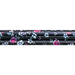 Nova 1070 BF Offset Cane Black with Blue Pink Flowers