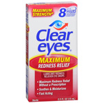 Clear Eyes Maximum Redness Relief Lubricant Eye Drops - 0.5 oz