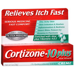 Cortizone 10 Maximum Strength Hydrocortisone Anti-Itch Plus Moisturizer Cream -1 Oz