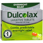 Dulcolax 5 mg Comfort Coated Laxative Tablets to Relieve Constipation - 10 Ea