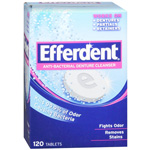 Efferdent Anti-Bacterial Denture Cleanser Tablets - 120 Ea