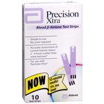 Precision Xtra Blood Ketone Test Strips Box of 10