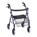 Nova Ortho-Med Inc Walker, 4-wheel, Blue, 1 Walker