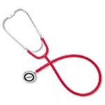 Omron 412 Series Dual Head Stethoscope, Red