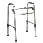 Carex Deluxe Folding Walker Without Wheels, Adjustable Height