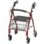 "NOVA ""GetGo"" 4203 Rolling Walker, Red"