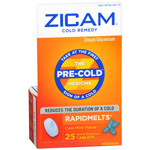 Zicam Cold Remedy Plus Rapidmelts Cool Mint - 25 Ea