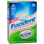 Fixodent Cleanser with Scope, 36 Count