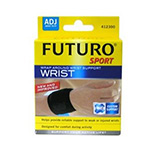 Futuro Sports Adjustable Elastic Wrist Wrap , Size : Adjustable , Black - 1 ea