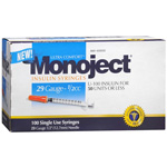 Monoject Syringes 29 Ga 1/2 Cc, 100-Count Box