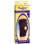 Bell-Horn Hinged Patella Knee Wrap, Black, S/MD