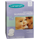 Lansinoh Disposable Nursing Pads for Breastfeeding Mothers, 60 ea