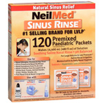 NeilMed Sinus Rinse Pediatric Packets Model No : 796-24 Premixed, 120 ea
