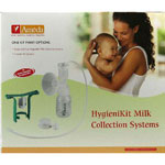 Ameda Single HygieniKit Milk Collection System with One-Hand Breast Pump Adapter