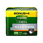 Depend Guards For Men, 52 ea (2 pack)
