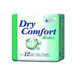 Dry Comfort Extra Adult Briefs, Large, 12ea (case of 4), #390