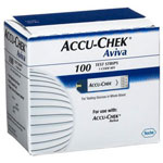 Accu-Chek Aviva Test Strips Plus Strip, 100 ea