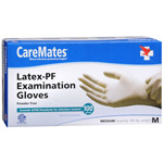 CareMates Disposable Medical Gloves - Powdered Latex, Medium 100 ea, CARE #312