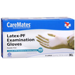 CareMates Disposable Medical Gloves - Powdered Latex, X-Large 100 ea, CARE #314