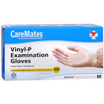 CareMates Vinyl Gloves Latex, Medium, 100 ea, Care#902