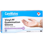 CareMates Vinyl Powder Free Gloves Medium, 100 ea