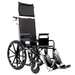 "American Bantex Derby Recliner Elevating leg rests Wheelchair, 16"", A10-16"
