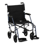 "Nova 18"" inch Ultra Lightweight Transport Chair in Blue, 348B"