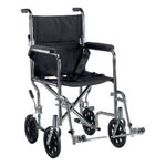 "Drive Medical Deluxe Go-Kart 19"" Transport Chair Frame - Chrome"